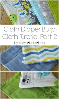 Cloth Diaper Burp Cloth Tutorial {Part 2} - Sewing flannel fabric to cloth diapers | rickabamboo.com | #baby #babyshower #handmade