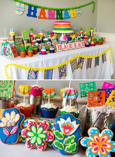Bright & Colorful Flower Fiesta Party