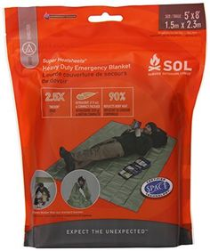 Survive Outdoors Longer Heavy Duty Emergency Blanket 0.412 Pound