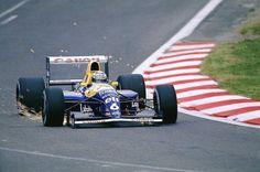 Riccardo Patrese, Canon Williams-Renault FW14, 1991 Belgian Grand Prix, Francorchamps