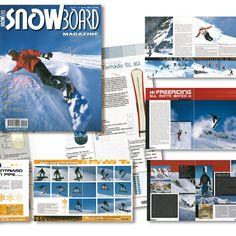 SnowBoard restyling rivista grafica creativa impaginazione - fotoritocco