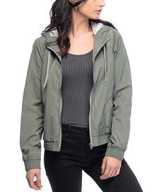 814af907a0 The Laya olive jacket from Zine is the perfect outer layer for any cold  weather outfit