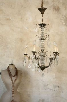 Decorating With Faux Finishes And Old World Textures - decoration,wood,wood working,furniture,decorating Chandelier, Faux Walls, Faux Painting, Decor, Faux Painting Walls, Decorative Painting, Plaster Walls, Wall Painting, Distressed Walls