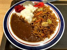 """Yakisoba-Curry"" 焼きそばカレー -富士そば 代々木店-"