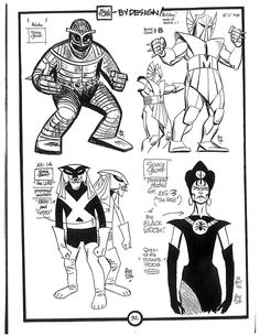 Cartoon Concept Design: Model Sheets-Space Ghost villains