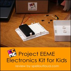 Teaching kids about electronics with @Michelle Flynn Penrod // Electronics Project Kits for Kids review by @Maureen Mills Mills Spell