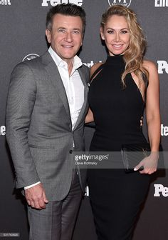Robert Herjavec (L) and Kym Johnson attend the Entertainment Weekly & People Upfronts party 2016 at Cedar Lake on May 16, 2016 in New York City.