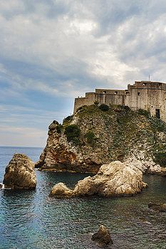 Formidable Stone Fortress Protects A Narrow Passage To The Ancient City by George Westermak#George Westermak#FineArtPrints#travel#Croatia