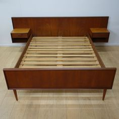 Buy Retro 1960s Danish teak double bed from Mark Parrish Mid Century Modern Furniture, Midcentury Design.