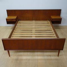 Buy Retro 1960s Danish teak double bed from Mark Parrish Mid Century Modern Furniture, Midcentury Design.