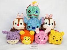 Tsum Tsum Amigurumi Pattern Free : Tsum tsum crochet disney inspired crochet toys