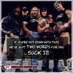 D Generation X: X-Pac, Road Dogg, Triple H, Chyna, & Billy Gunn. The only 1 missing HBK.
