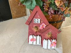 Double Birdhouse Wall Hanging- Laser Cut - Layered Wood – Borgmanns Creations