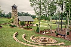 The Founders Chapel - Timber Framed Chapel in Johns Creek, Georgia - Timber frame natural seating - Barn Wedding Venue, Chapel Wedding, Wedding Chapels, Wedding Gazebo, Outdoor Spaces, Outdoor Living, Outdoor Venues, Outdoor Decor, Johns Creek
