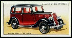 Cigarette Card - Standard 12 Salon Car, 1936