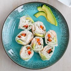 These spring rolls, with shrimp, avocado and rice noodles are the perfect light and healthy appetizers to kick off the backyard barbecue season.