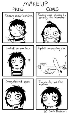 sarahseeandersen:  Some of my personal struggles with both loving and hating makeup at the same time.