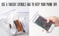 Keep your phone in a plastic bag inside your backpack just in case.