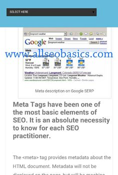 Create a Description Meta Tag for SEO- Best Practices Read more at:  http://www.allseobasics.com/2015/09/create-description-meta-tag-seo.html #SEO #Blogger #Blogging #Blog