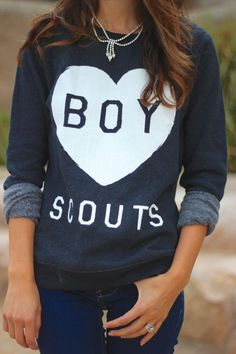 Love Boy Scouts Printed #Sweater from frankieheartsfashion.com