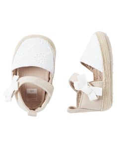 Baby Girl Carter's Espadrille Crib Shoes | Carters.com