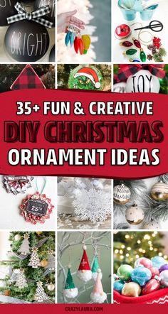 Christmas Ideas To Make, Easy To Make Christmas Ornaments, Farmhouse Christmas Ornaments, Homemade Ornaments, Christmas Hacks, Christmas Crafts For Gifts, Christmas Ornaments To Make, Homemade Christmas Gifts, Christmas Presents