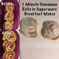 Cinnamon rolls in breakfast maker