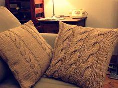 Love a knitted cushion