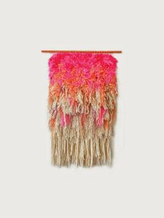 Trend Watch Summer 2014 with Poppytalk on Etsy (Tapestry by jujujust https://www.etsy.com/listing/178017014/furry-electric-cherry-fields-handwoven)