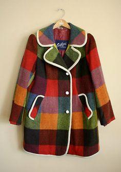 Midcenturymodernfreak: Plaid Mod Style Wool Coat Coatique Of Austria - Via Fashion Kids, Mod Fashion, Vintage Fashion, Winter Fashion, Sporty Fashion, Plaid Fashion, Fashion Hacks, Fashion Models, Fashion Women
