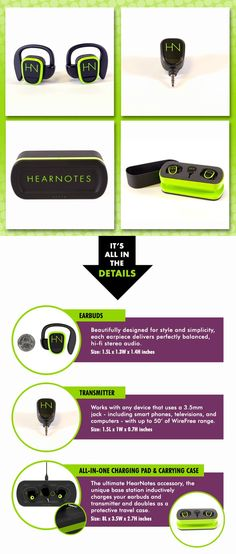 HearNotes Premium WireFree Earbuds - The Universal Edition by HearNotes Inc. — Kickstarter