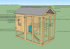 Free insulated chicken coup plan. A practical plan for a small number of chickens.
