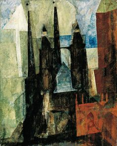 Lyonel Feininger, St. Mary's Church with the Arrow, 1930