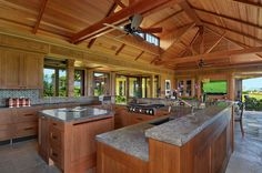 A kitchen with a view by Smith Brothers Construction