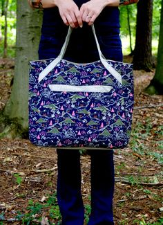 Alice shopper tote, free sewing pattern from Swoon Patterns