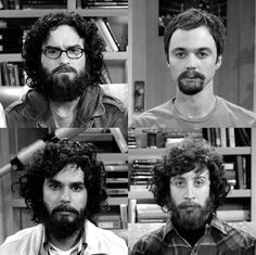 beard, black and white, howard wolowitz, leonard hofstadter, raj koothrappali The Big Bang Theory Fans Site
