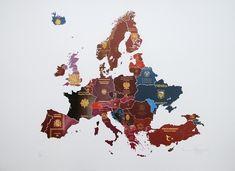 Passkarten mal anders - Landkarten von Kontinente der Personal- und Reisepässe