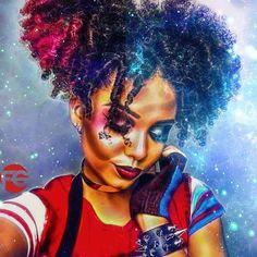 Black Love Art, Black Girl Art, Art Girl, Dope Cartoon Art, Black Girl Cartoon, African American Art, African Art, Drawings Of Black Girls, Natural Hair Art