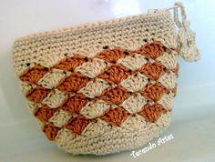 Tecendo Artes em Crochet: bolsinhas