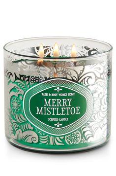 Merry Mistletoe 3-Wick Candle - Home Fragrance 1037181 - Bath & Body Works