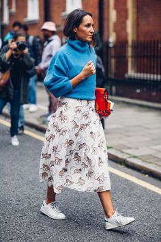 On the street at London Fashion Week. Photo: Moeez Ali