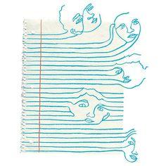 Beautiful line-work from #KimRosen #Illustration