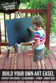 // DIY Kids Art Easel - The Clueless Girls Guide