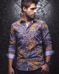Au Noir Shirt - Bertoli - Purple