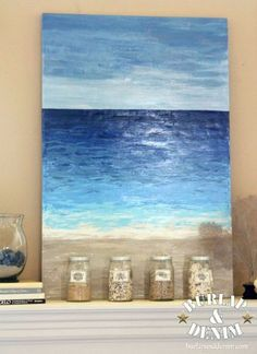 DIY Ocean Art Anyone Can Make: http://www.completely-coastal.com/2014/07/diy-abstract-sea-painting.html
