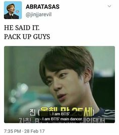 It's official! Jin is the main dancer!