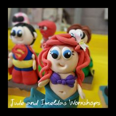 Under the sea!! Made from our own light weight air drying polymer clay.