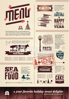 Clipart vectoriel : Christmas restaurant menu