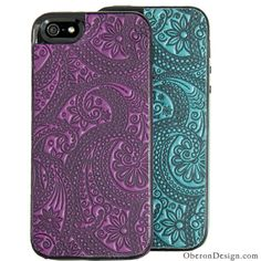 Paisley Leather iPhone Cases  http://oberondesign.com/e-reader-covers/smartphone-cases-covers/iphone-cases.html