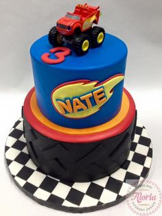 6 Awesome Blaze Monster Machines Cake to make for your next kids themed party. Here are a few great ideas to get your mind started. Have fun! Blaze Birthday Cake, 4th Birthday Cakes, Turtle Birthday, 4th Birthday Parties, Boy Birthday, Themed Parties, Birthday Ideas, Torta Blaze, Blaze Cakes